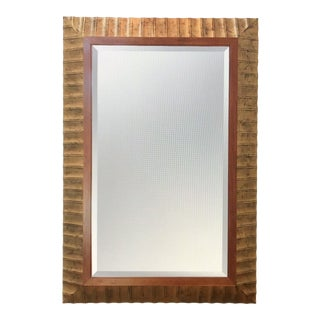 Baker Carved Wood Mirror With Gold Leaf For Sale