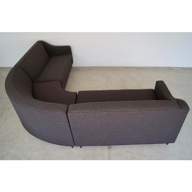 Mid-Century Modern Reupholstered 3-Piece Sectional Sofa For Sale In Los Angeles - Image 6 of 13