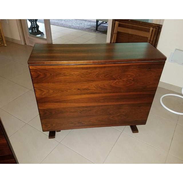 1970s Scandinavian Westnofa Rosewood Drop Leaf Banquet Dining Tables - a Pair For Sale In Miami - Image 6 of 10
