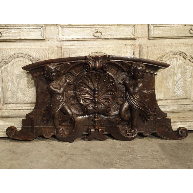18th Century Carved Wooden Overdoor From France For Sale - Image 13 of 13
