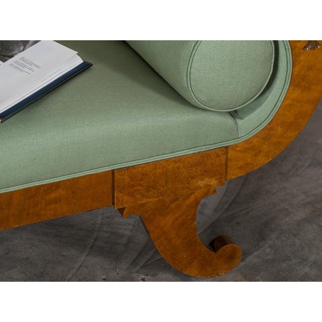Yellow 1920s Swedish Grace Biedermeier Satinwood Sofa For Sale - Image 8 of 11