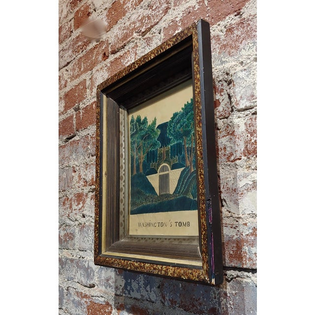 19th Century Early 19th Century Painting of George Washington's Tomb For Sale - Image 5 of 7