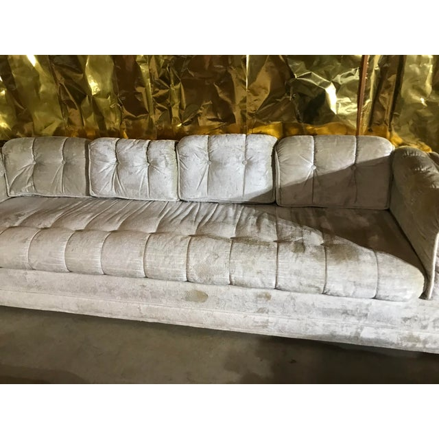 Milo Baughman 1970s Milo Baughman Frost White Sofa For Sale - Image 4 of 13