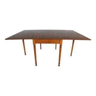 L & J G Stickley Cherry Valley Drop Side Dining Table For Sale