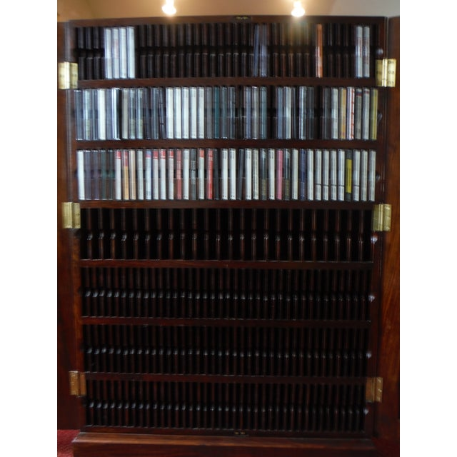 Indian Iron Wood CD/DVD Armoire - Image 6 of 10