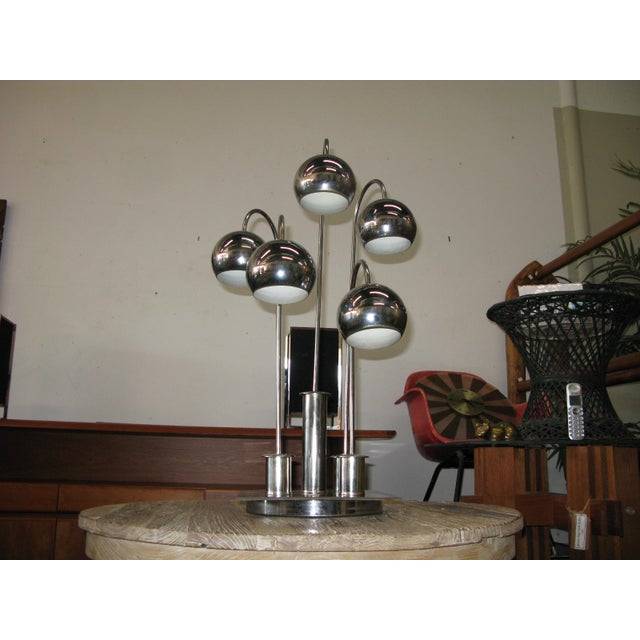 Robert Sonneman Chrome Ball Waterfall Lamp - Image 7 of 11