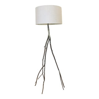 Vintage Organic Inspired Chrome Twig Floor Lamp For Sale