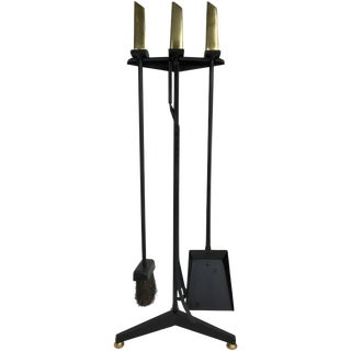 Donald Deskey Fireplace Tool Set For Sale