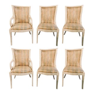 Enrique Garcel Bone Tessellated Dining Chairs, Karl Springer - Set of 6