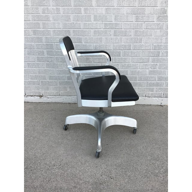 Silver Vintage Emeco Rolling Office Chair For Sale - Image 8 of 13