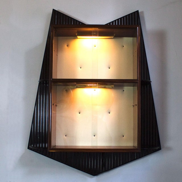 1950s Bar Counter and Vitrine, Mahogany, Sycamore, Golden Glass, Italy For Sale In San Francisco - Image 6 of 13