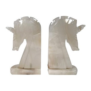 Marble Unicorn Bookends, Pair Preview