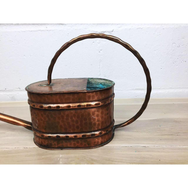 Vintage French Country Rustic Copper Flower Watering Pot - Image 5 of 9