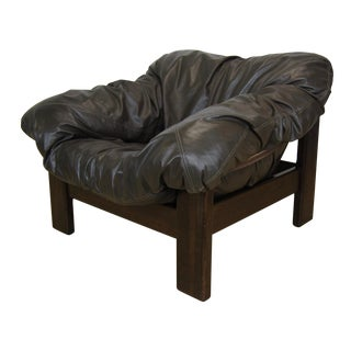 Leolux of the Netherlands Leather Lounge Chair For Sale