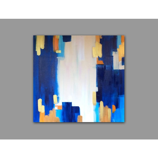 "Abstract Painting ""LAGUNA""by Linnea Heide - Image 3 of 6"