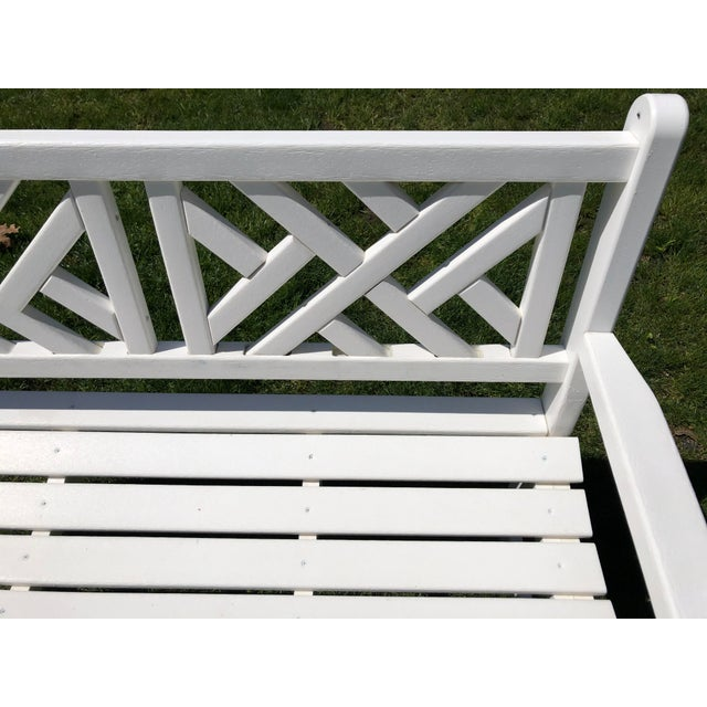 Cool Chippendale Style Polywood Garden Bench Pabps2019 Chair Design Images Pabps2019Com