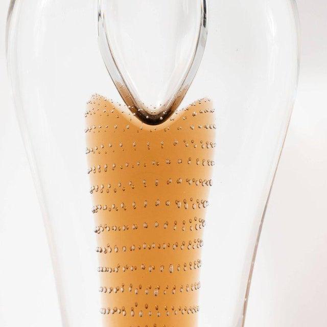 Mid-Century Modern Mid-Century Modern Handblown Smoked Honey & Translucent Glass Vase by Beranek For Sale - Image 3 of 9