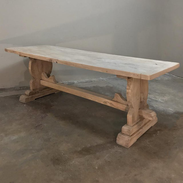 Trestle Dining Table, 19th Century Country French Provincial in Stripped Walnut For Sale - Image 11 of 13
