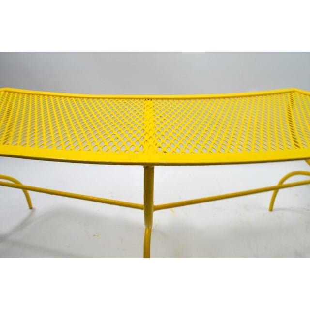 Curved Garden Patio Benches by Salterini Pair Available For Sale - Image 11 of 12