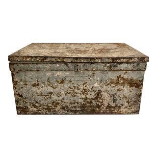 Vintage Industrial Metal Storage Box For Sale