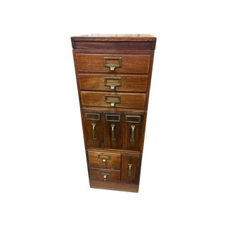 1920s Globe Wernicke Company Signed Antique File Cabinet Credenza For Sale