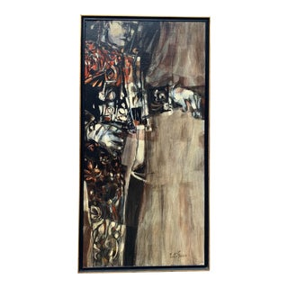 "Mid 20th Century ""El Matador"" Figurative Oil Painting by Joe Testa-Secca, Framed For Sale"