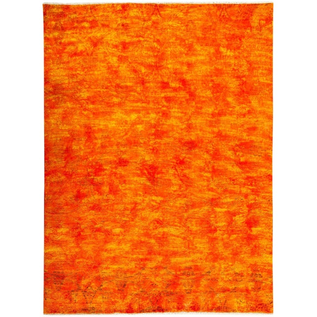 """Vibrance Hand Knotted Area Rug - 7'10"""" X 10'5"""" For Sale"""