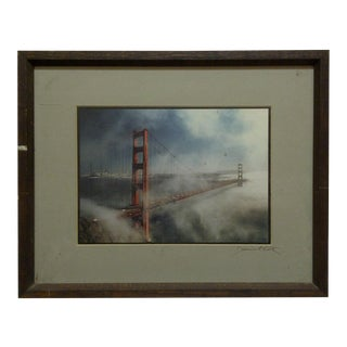"Wood Framed Color Photograph ""The Golden Gate Bridge"" by Daniel Cole For Sale"