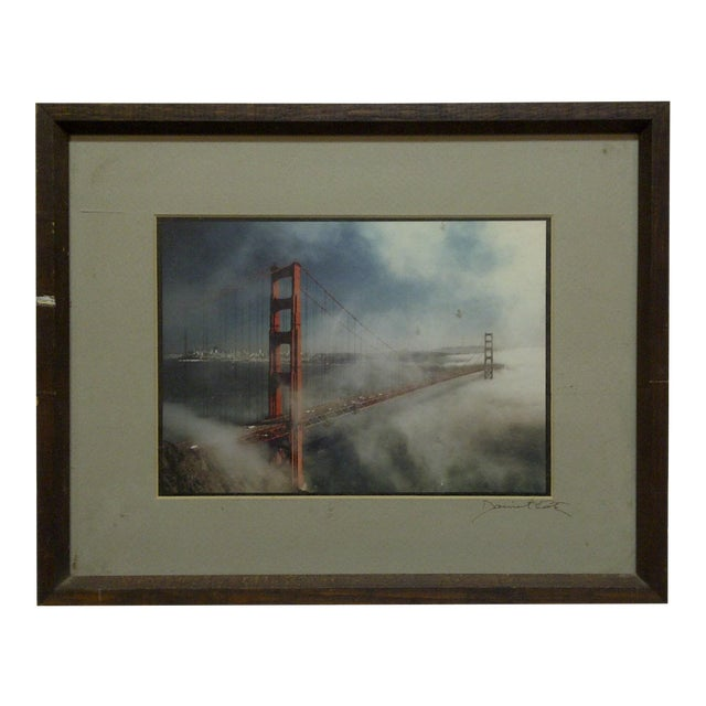 "Wood Framed Color Photograph ""The Golden Gate Bridge"" by Daniel Cole - Image 1 of 6"