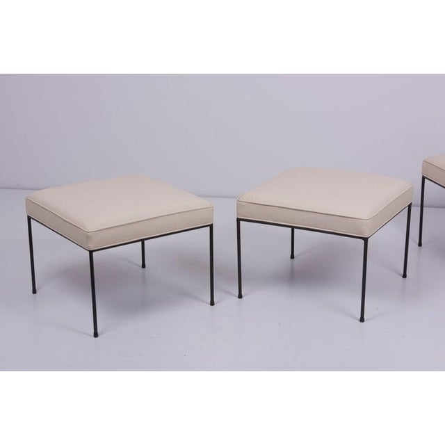 1950s Set of Three Paul McCobb Wrought Iron Stools For Sale - Image 5 of 7