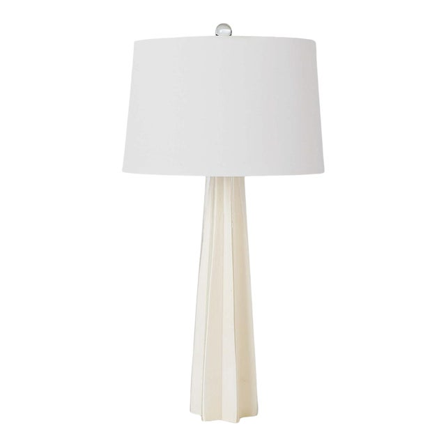 Glass Star Table Lamp in White For Sale