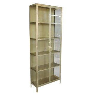 Satin Brass Display Cabinet