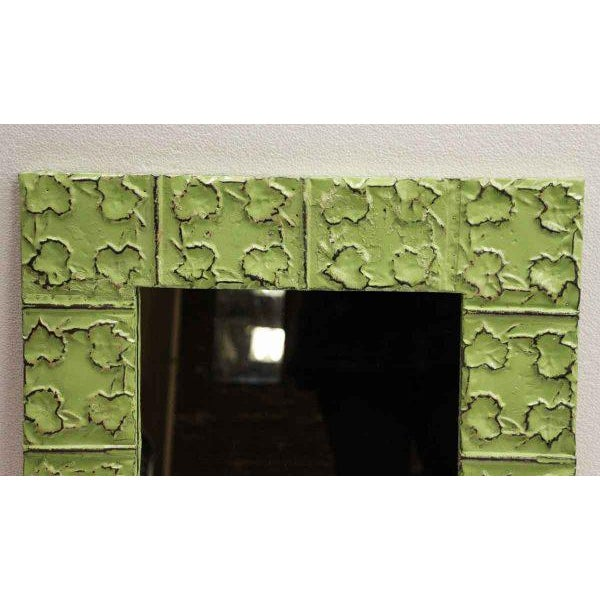 Cross & Leaves Lime Green Tin Mirror - Image 3 of 3
