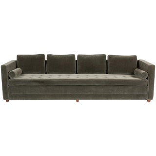 Tuxedo Sofa in Mohair For Sale