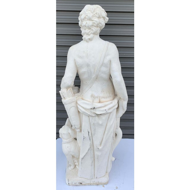 Mid 20th Century Pair of Vintage Cast Stone Statues of Apollo & Diana For Sale - Image 5 of 11