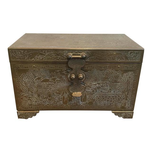 Frederick Cooper Chicago Brass Trinket Jewelry Box For Sale