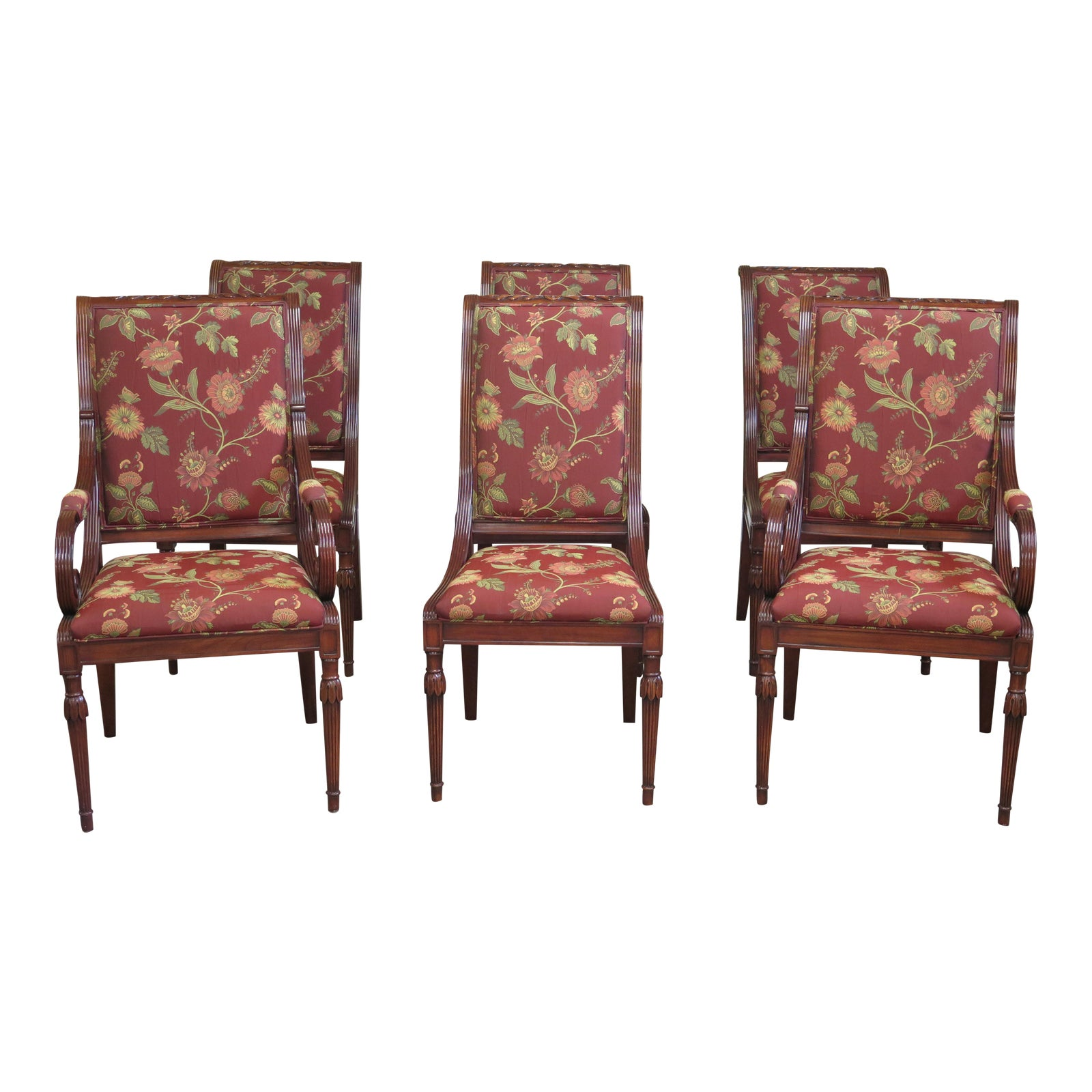 Regency Dining Room: Karges Regency Style Dining Room Chairs - Set Of 6