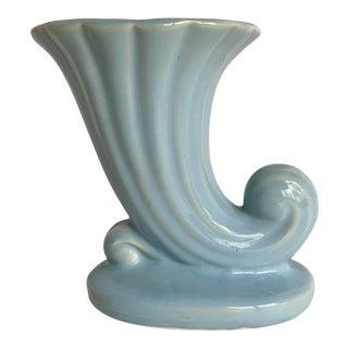 Vintage Usa Art Deco Pottery Pale Blue Vase For Sale