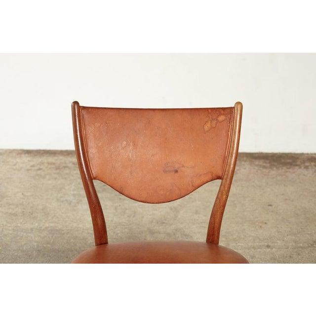Brown Finn Juhl Bo 63 (Nv 64) Chair, Bovirke, Denmark, 1950s For Sale - Image 8 of 10