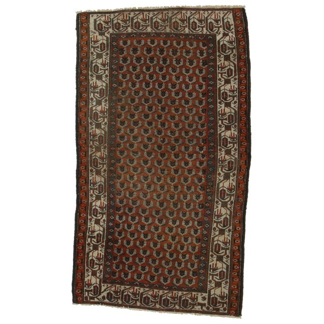 RugsinDallas Hand Knotted Wool Persian Malayer Rug- 3′7″ × 6′2″ For Sale
