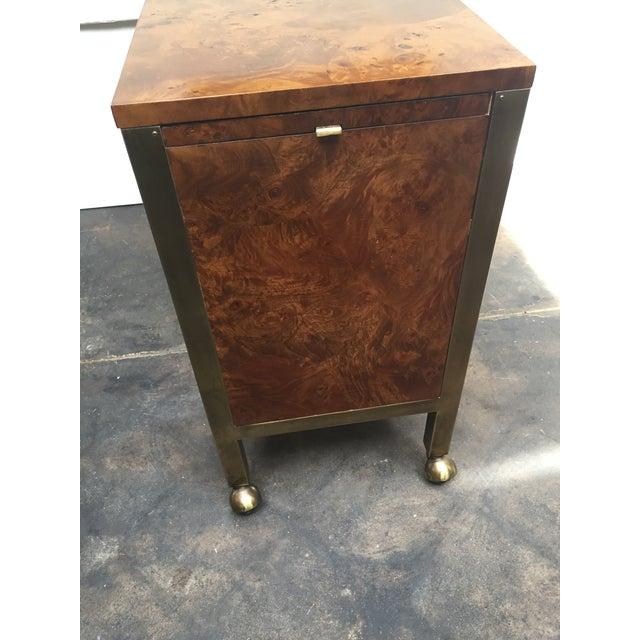 Campaign Tomlinson Burl Wood Bar Cart For Sale - Image 3 of 13