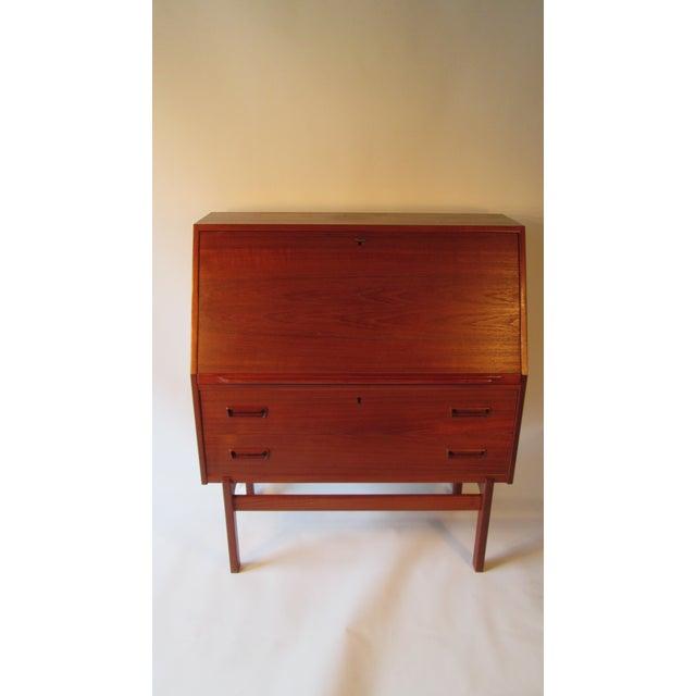 1960s Danish Modern Drop Front Desk For Sale - Image 13 of 13