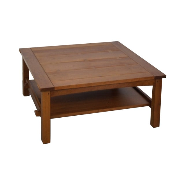 Stickley Cherry Mission Style Square Coffee Table - Image 1 of 10