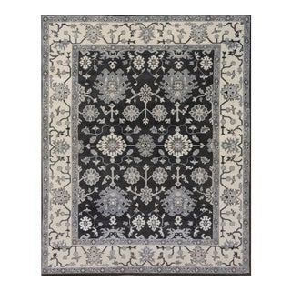"""Turkish Mansour Quality Handwoven Oushak Wool Rug - 7'10"""" X 9'-10"""" For Sale"""