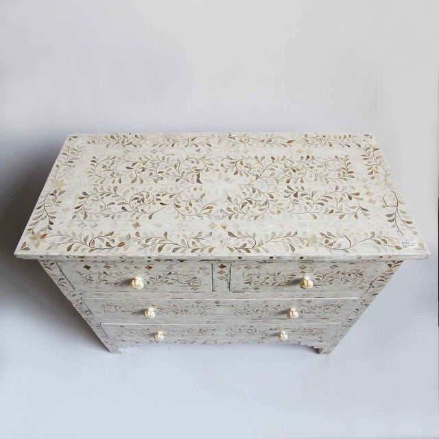 Mother of Pearl Inlay Dresser For Sale - Image 4 of 6