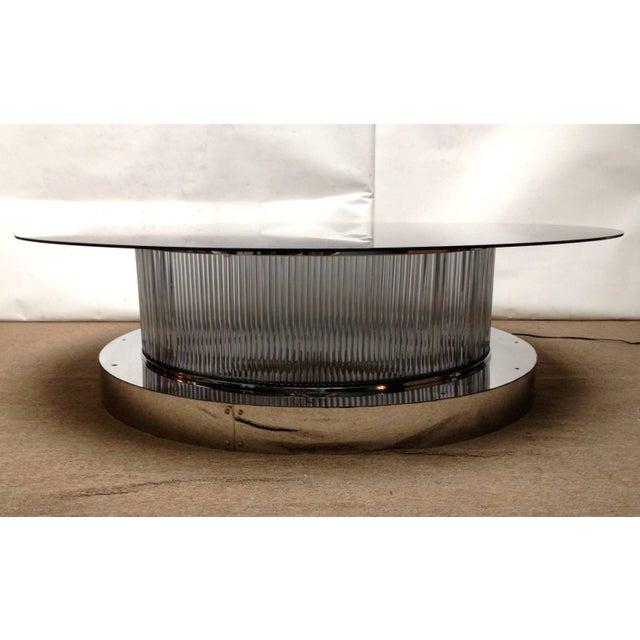 Fabio Ltd Monumental Italian Crystal Bars Coffee Table For Sale - Image 4 of 10