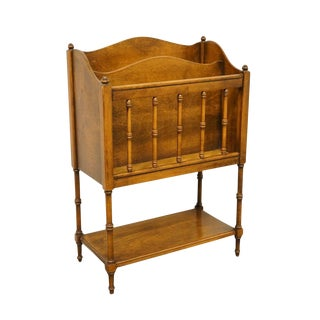 20th Century French Country Butler Furniture Magazine Rack For Sale