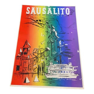 1970s Sausalito Trade Fair Poster For Sale