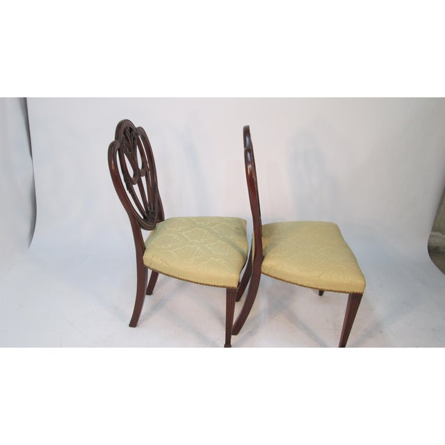Hepplewhite 1940s Vintage Custom Made Mahogany Chairs- Set of 6 For Sale - Image 3 of 10