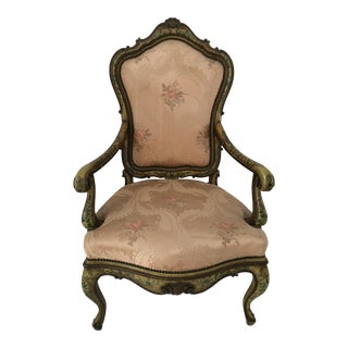 Anitique Venetian Arm Chair For Sale